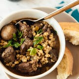 Lambat Cooker Beef and Barley Stew